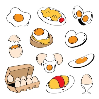 Hand drawing styles egg menu