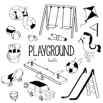 Hand drawing styles playground items
