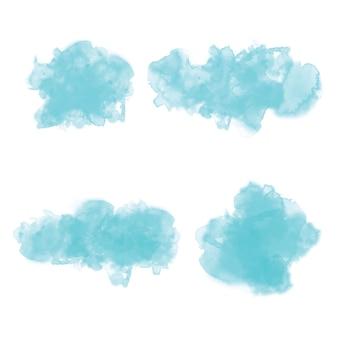 手描きの水彩の背景ベクトルセット