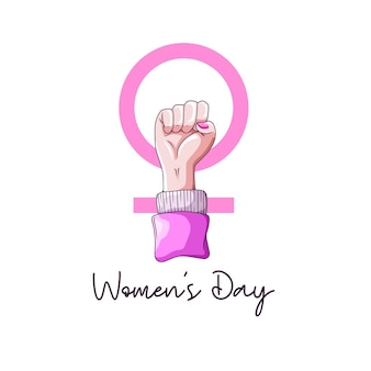 Hand drawing with passionate hands for women's day