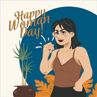 Hand-drawing with women day