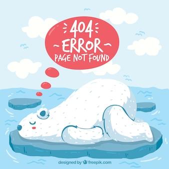 손으로 그린 404 오류