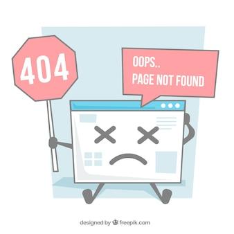 Hand drawn 404 error