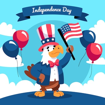 Hand drawn 4th of july - independence day illustration