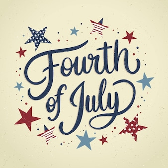 손으로 그린 7 월 4 일-독립 기념일 레터링