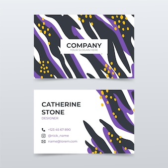 Hand drawn abstract business cards template