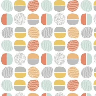 손으로 그린 된 추상 요소 패턴