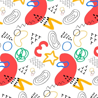 Hand drawn abstract element pattern
