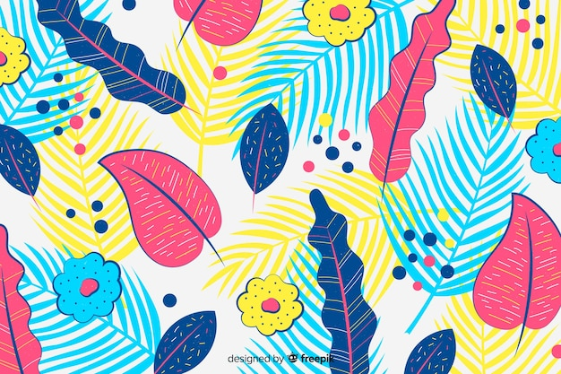 Hand drawn abstract exotic background