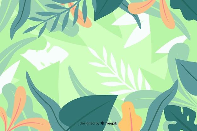 Рисованной абстрактные экзотические цветы