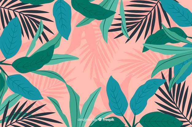 Hand drawn abstract floral background