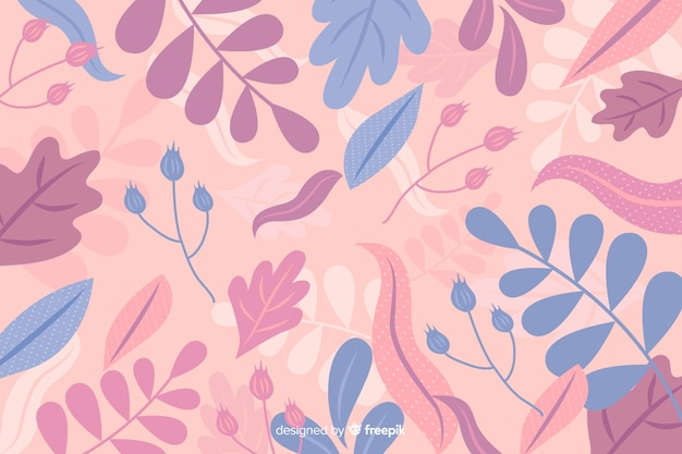 Hand drawn abstract floral pastel background