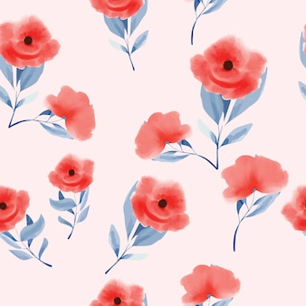Hand drawn abstract flowers background