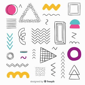 Hand drawn abstract geometric background
