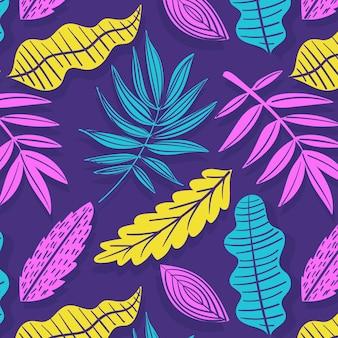 Ручной обращается абстрактный узор с листьями
