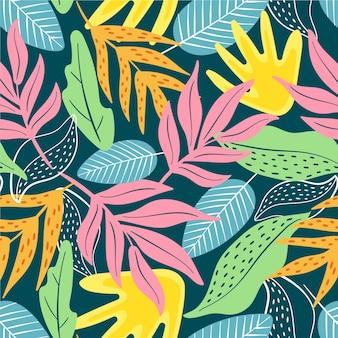 Ручной обращается абстрактный узор листья