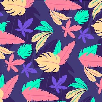 손으로 그린된 추상 나뭇잎 패턴