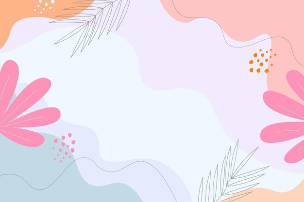 手描きの抽象的なミニマリストの背景