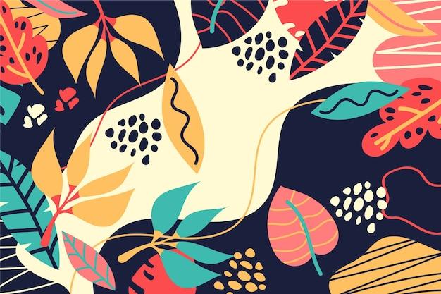 Hand drawn abstract organic shapes screensaver