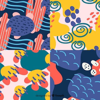 Hand drawn abstract pattern collection