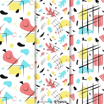 Hand-drawn abstract pattern collection