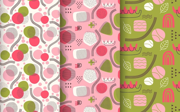 Hand drawn abstract pattern collection.