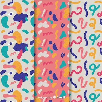 Hand drawn abstract pattern pack