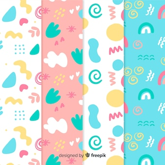 Hand drawn abstract pattern set