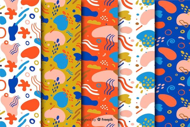 Hand drawn abstract pattern set