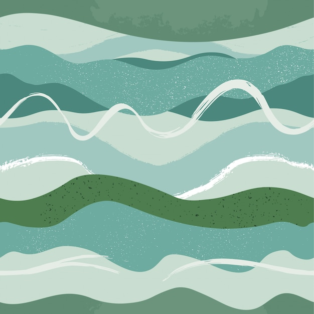 手描き抽象シームレスパターン。