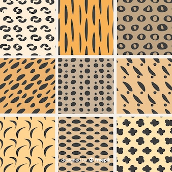 Hand drawn abstract shape pattern collection