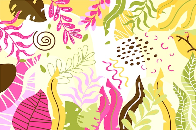 Hand drawn abstract shapes background