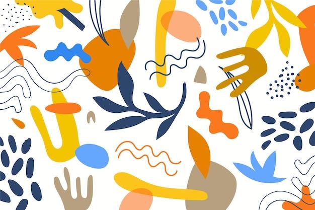 Sfondo di forme astratte disegnate a mano