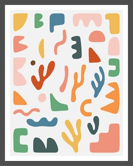 Hand drawn abstract shapes collection