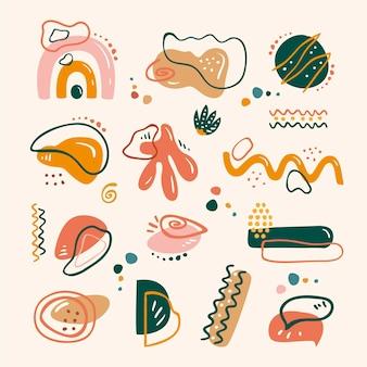 手描きの抽象的な形のコレクション