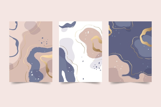 Hand drawn abstract shapes cover collection