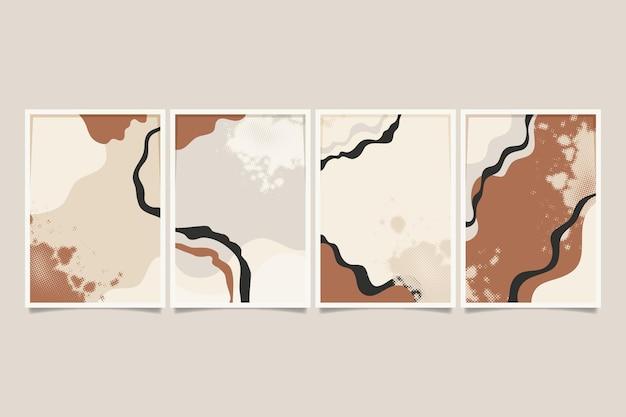 手描きの抽象的な形のカバーコレクション