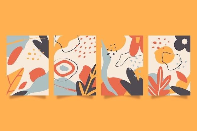 手描きの抽象的な形はコレクションをカバーしています