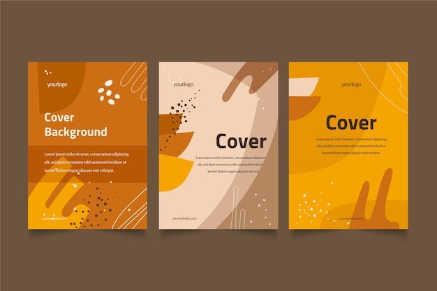 Hand drawn abstract shapes covers design