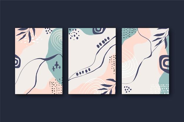 Le forme astratte disegnate a mano coprono il design