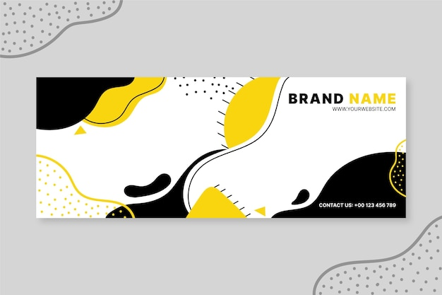 Hand drawn abstract shapes facebook cover