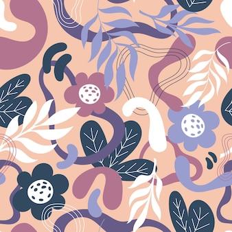 Ручной обращается абстрактные формы шаблон дизайна