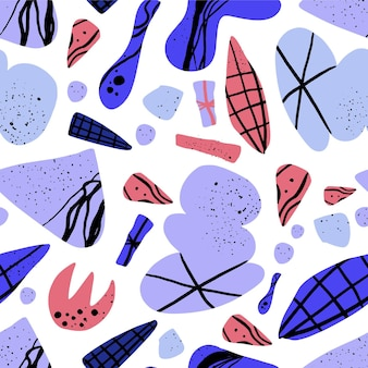 Рука нарисованные абстрактные формы шаблон
