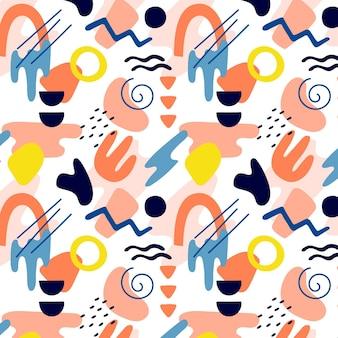 手描きの抽象的な形のパターン
