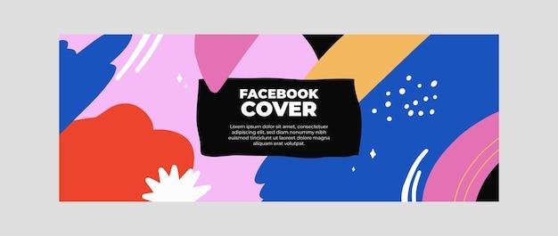 Шаблон обложки для социальных сетей с абстрактными формами