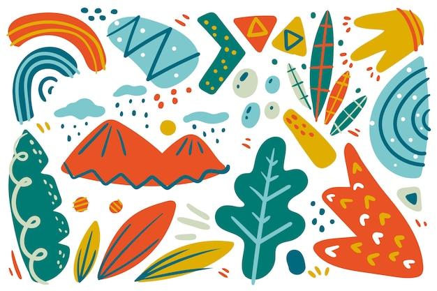 手描きの抽象的な形の壁紙