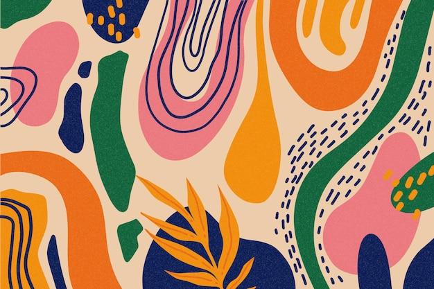 Carta da parati con forme astratte disegnate a mano