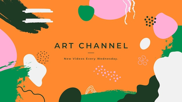Forme astratte disegnate a mano arte del canale youtube