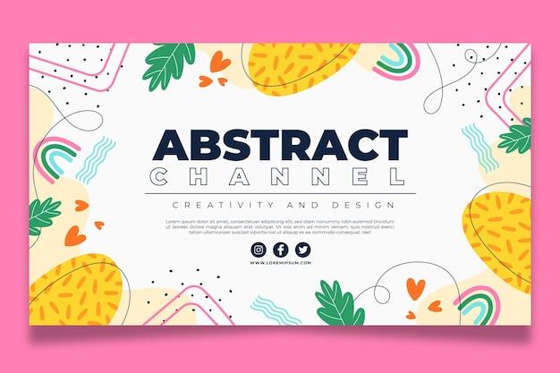 Нарисованные от руки абстрактные формы канал youtube