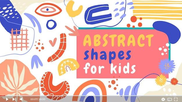 Hand drawn abstract shapes youtube thumbnail